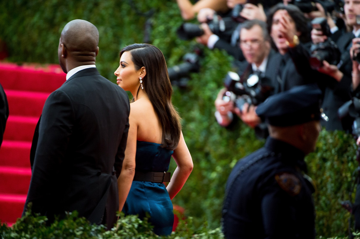 Kim and Kanye better factor in some more travel time this year. Photo: Michael Stewart/WireImage