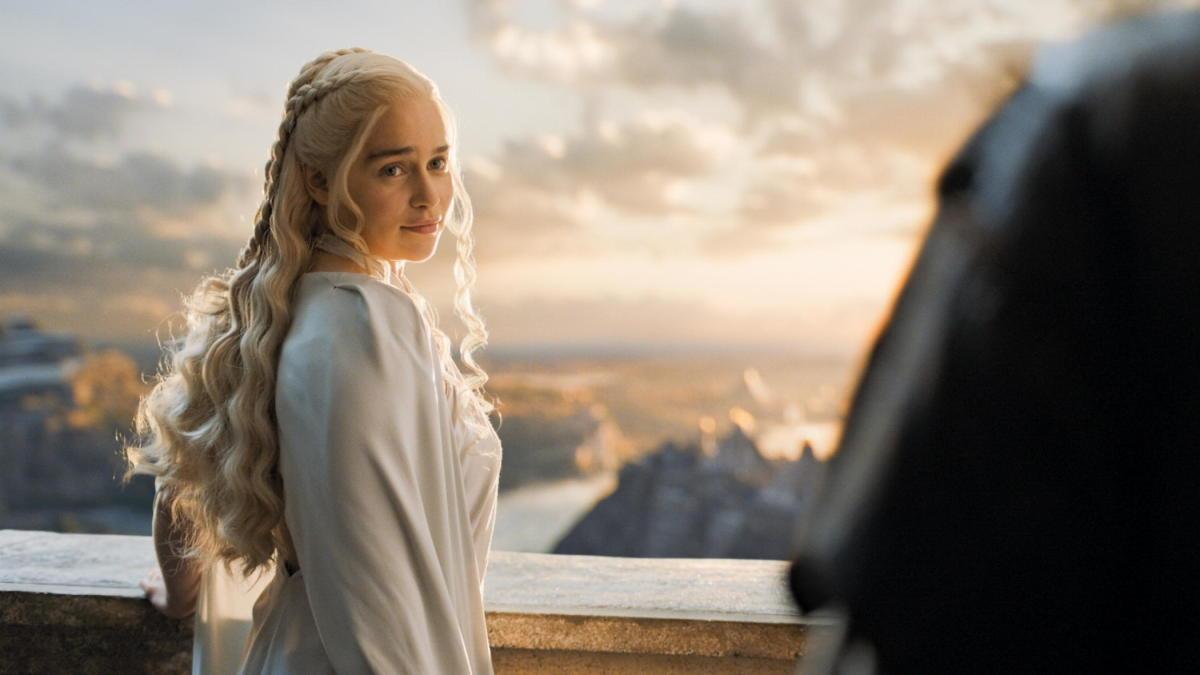 Daenerys' luxurious hair. Photo: Helen Sloan/HBO
