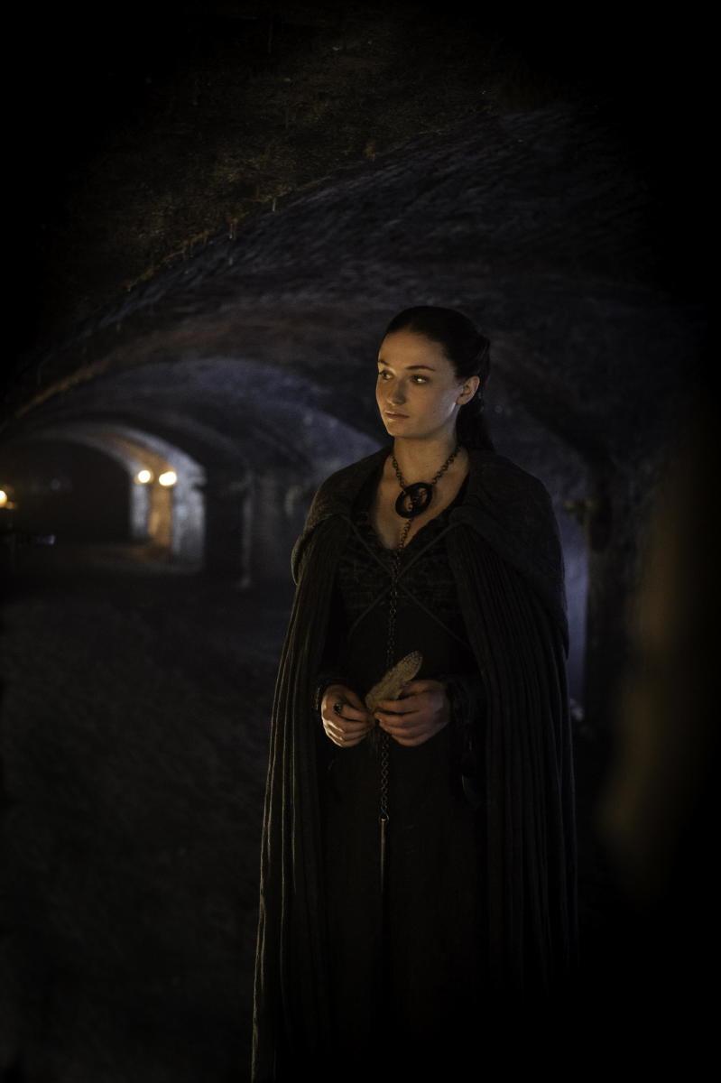 Darkness, Sansa's new aesthetic. Photo: Helen Sloan/HBO