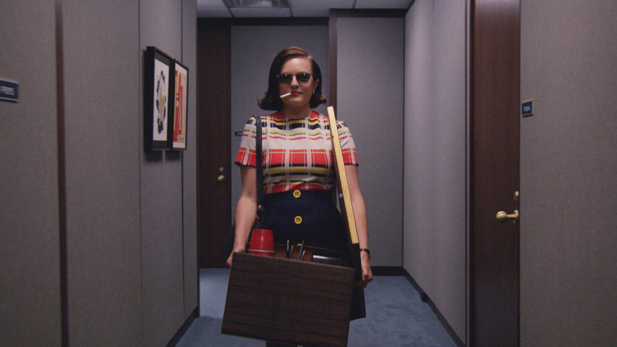 Peggy's actual first-day-of-work outfit. Photo: AMC