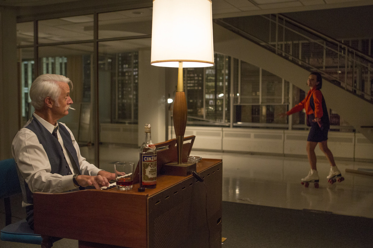 Roger Sterling and Peggy Olson say goodbye to the agency. Photo: AMC