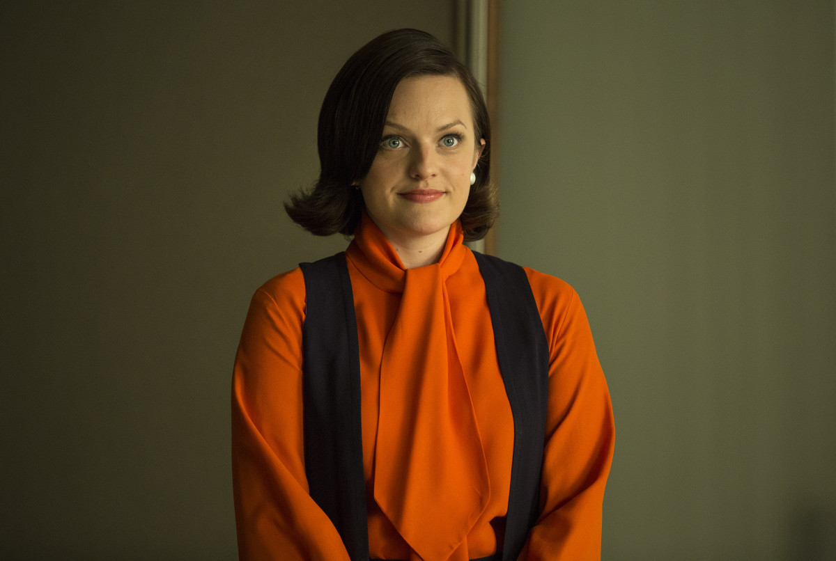 Peggy in what she thought would be her first-day-of-work outfit. Photo: AMC