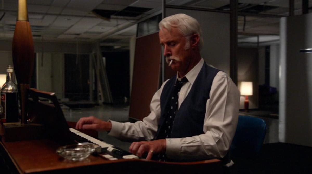 Roger playing the organ. Screengrab: AMC