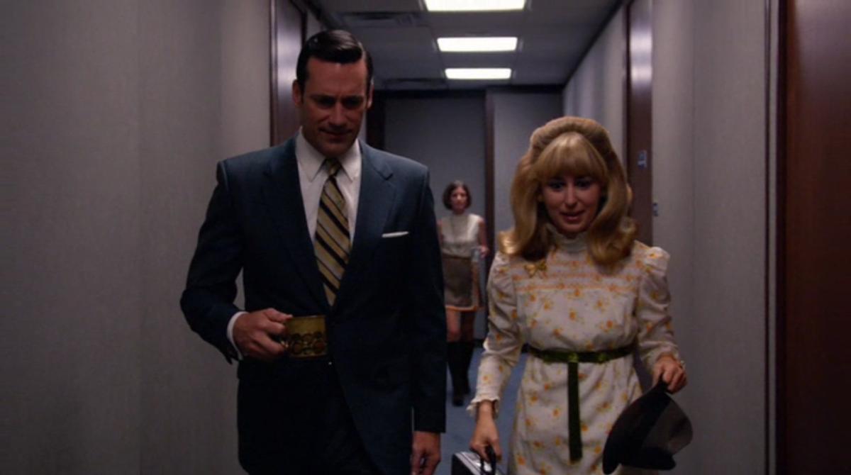 Don and his secretary, Meredith. Screengrab: AMC