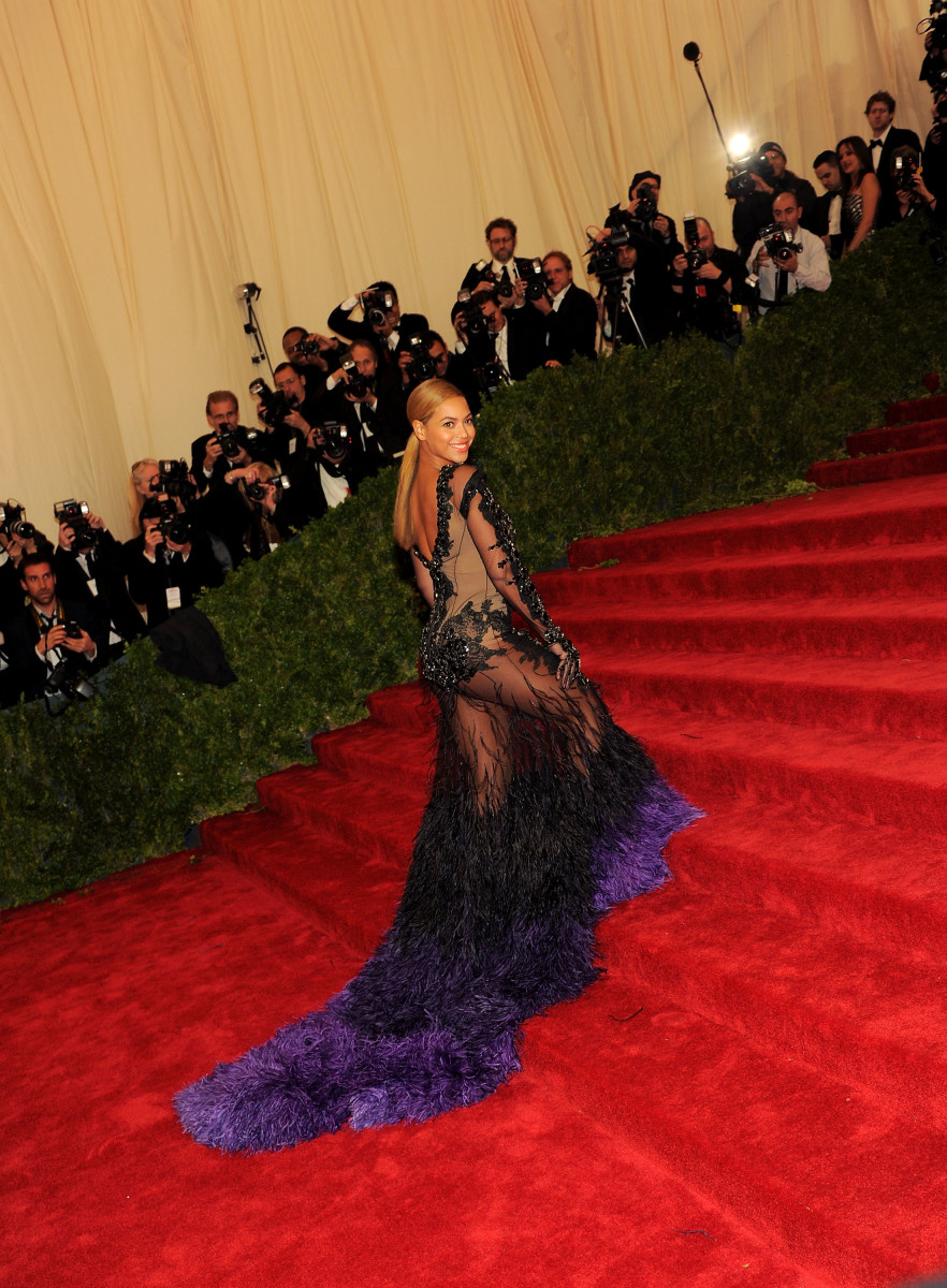 Bey's feathers certainly don't look ruffled here. Photo: Getty Images