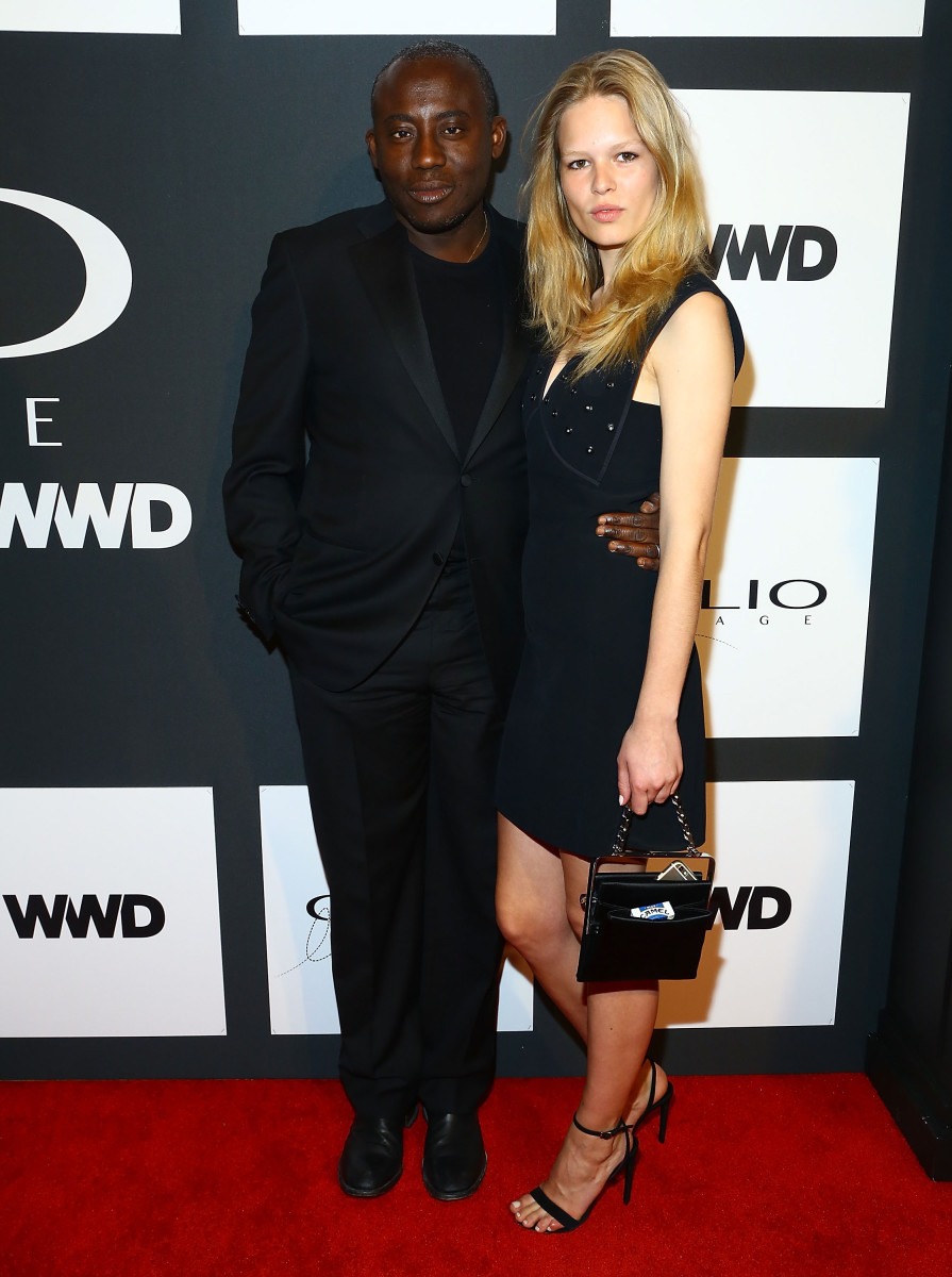 """W Magazine"" fashion and style director Edward Enninful with model Anna Ewers at the 2015 CLIO Image Awards. Photo: Astrid Stawiarz/Getty Images"