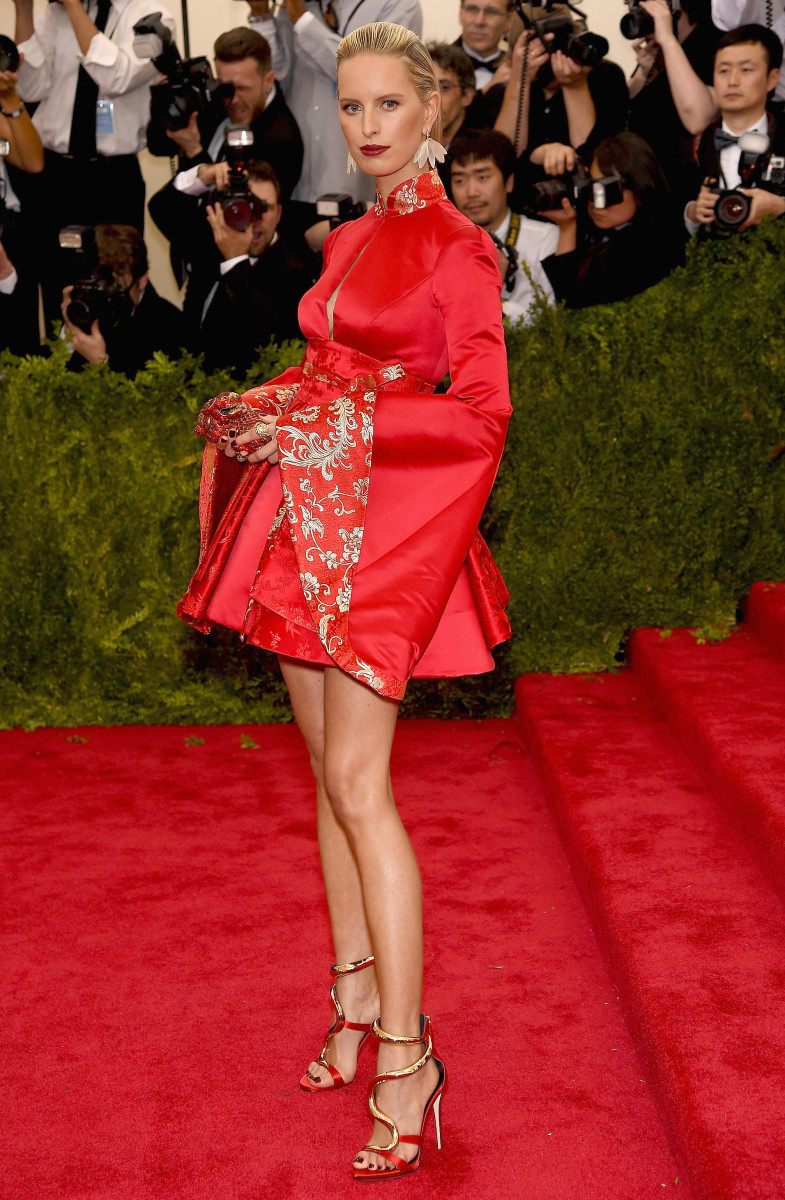 Karolina Kurkova at the 2015 Met Ball. Photo: Dimitrios Kambouris/Getty Images