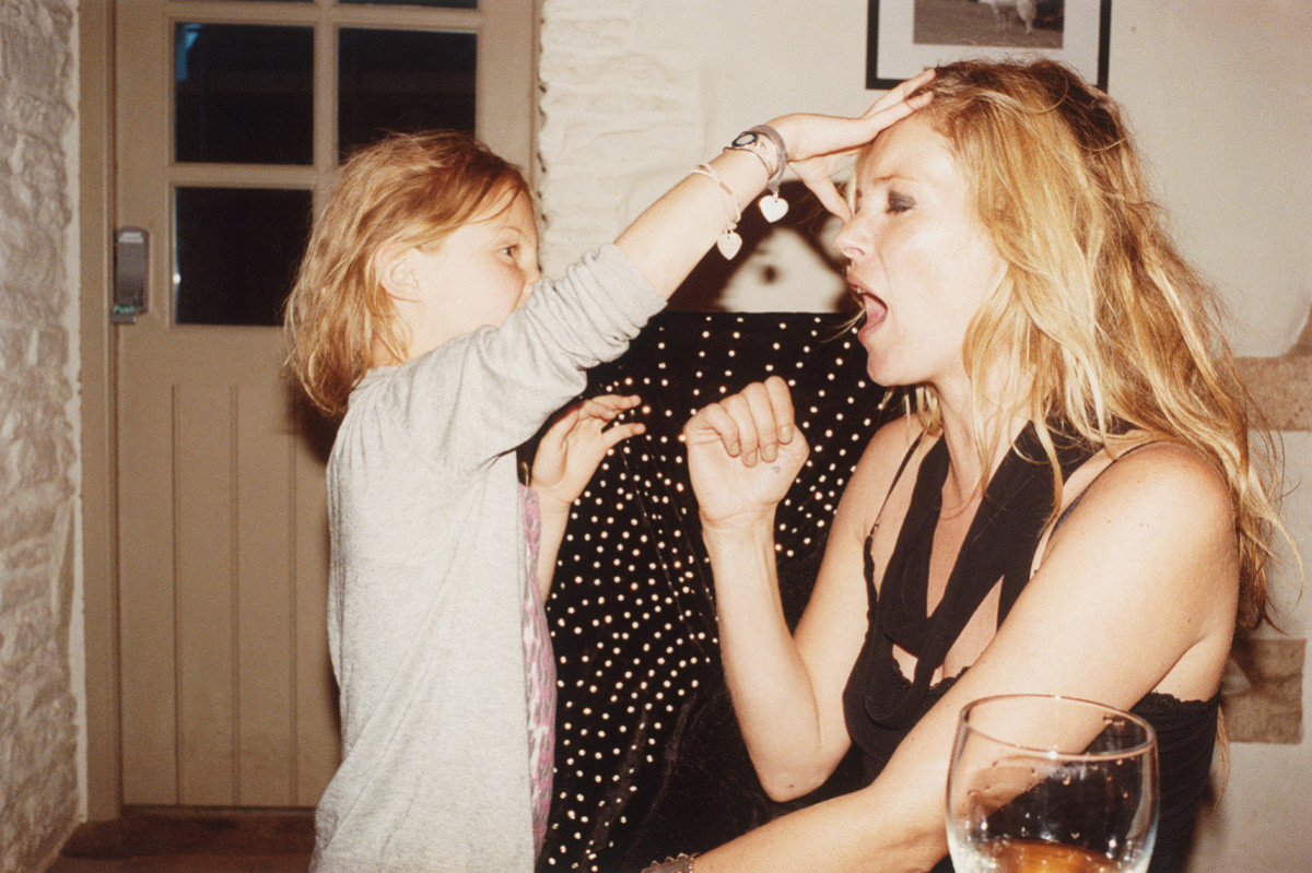 Kate Moss and her daughter, photographed by Juergen Teller, styling by Zoe Bedeaux