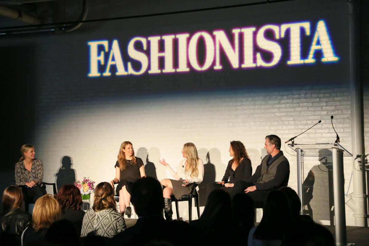 "Writer Hayley Phelan with the founders of 'Well + Good,' Luli Tonix, Live the Process and Heyday at our 2015 ""How to Make It in Fashion"" conference in New York City. Photo: Fashionista"