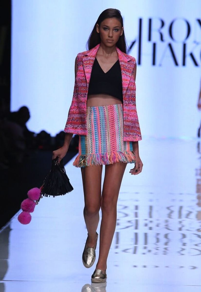 A colorful look from designer Liron Itzhakov at Tel Aviv Fashion Week. Photo: Tel Aviv Fashion Week