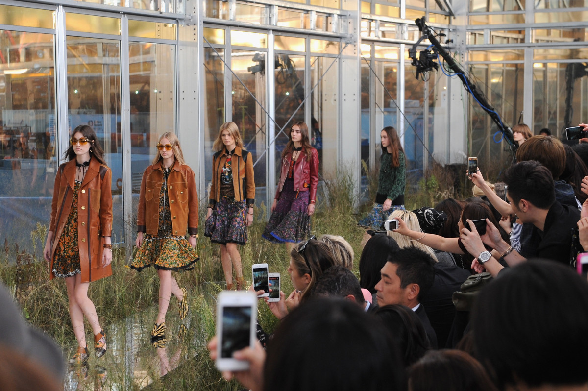 Coach's first true runway show at New York Fashion Week this September. Photo: Brad Barket/Getty Images