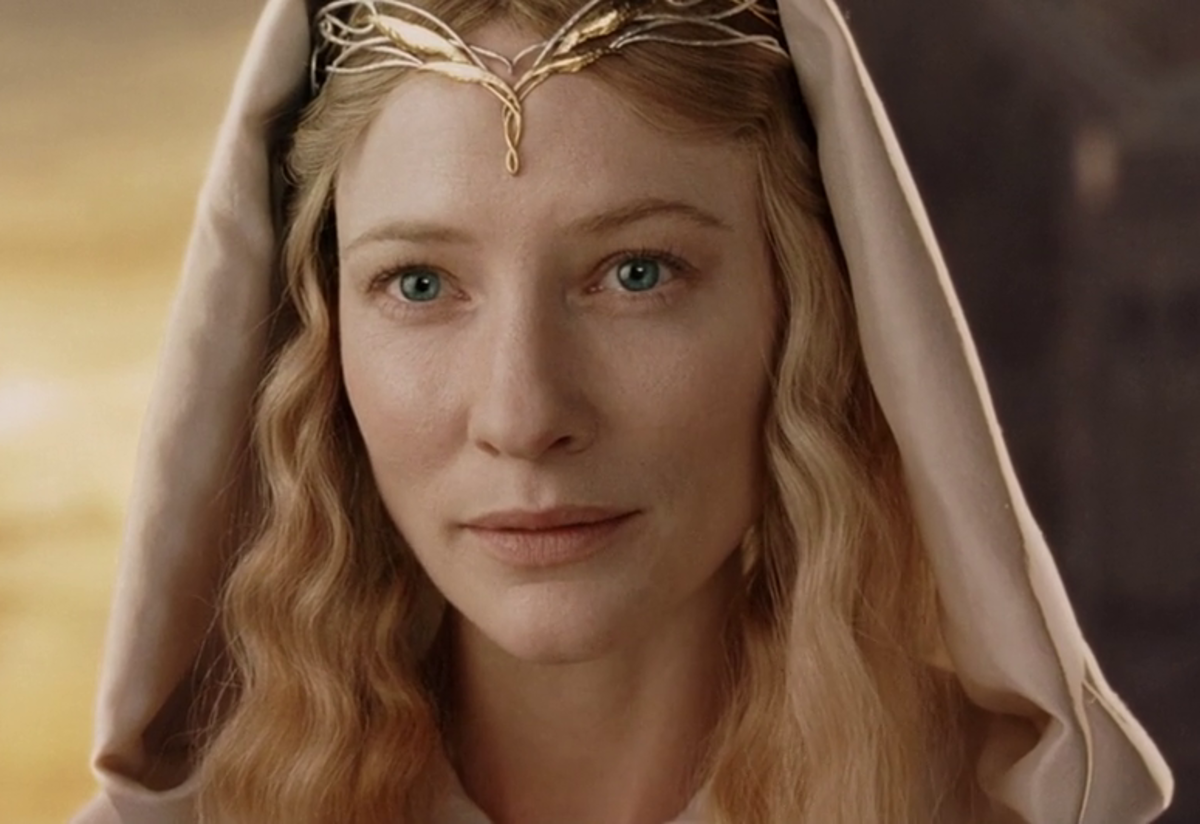 Cate Blanchett as Galadriel, sadly sans Gold 001. Photo: New Line Cinema