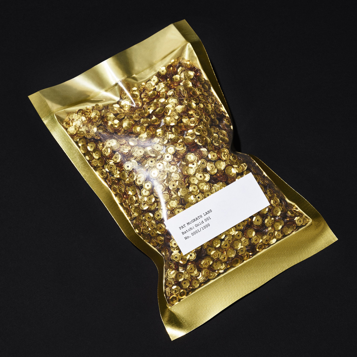 "Mysterious pouch of ""couture"" sequins. Photo: Pat McGrath Labs"