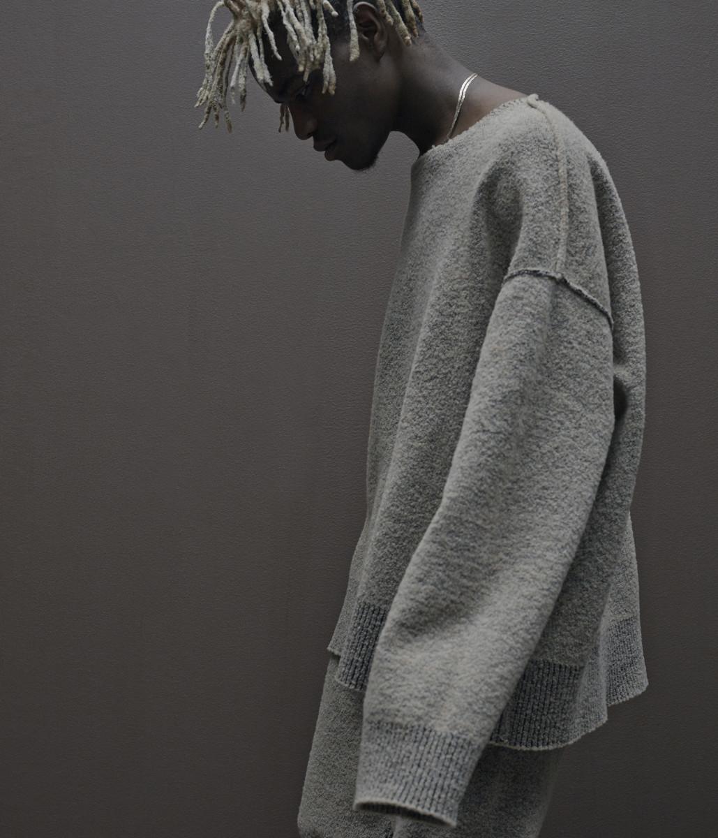Ian Connor modeling Yeezy Season 1. Photo: Adidas