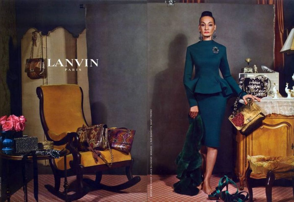 Elbaz's decision to cast older women in Lanvin's fall 2012 campaign was widely celebrated. Photo: Lanvin