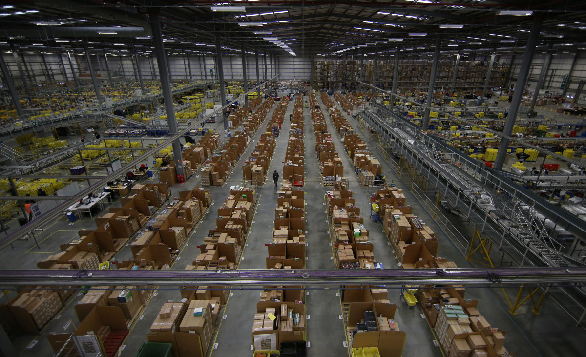 An Amazon fulfillment center. Photo: Peter Macdiarmid/Getty Images