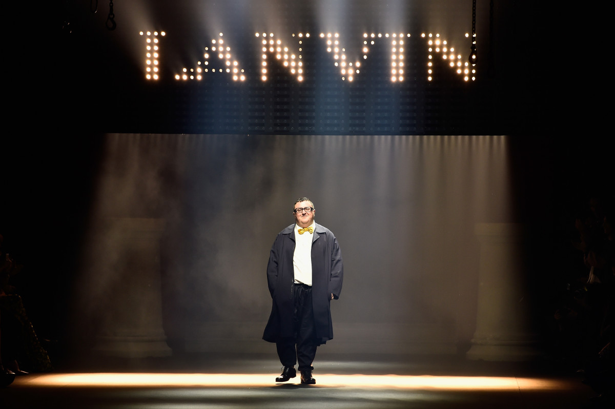 Alber Elbaz at his final show for Lanvin. Photo: Pascal Le Segretain/Getty Images