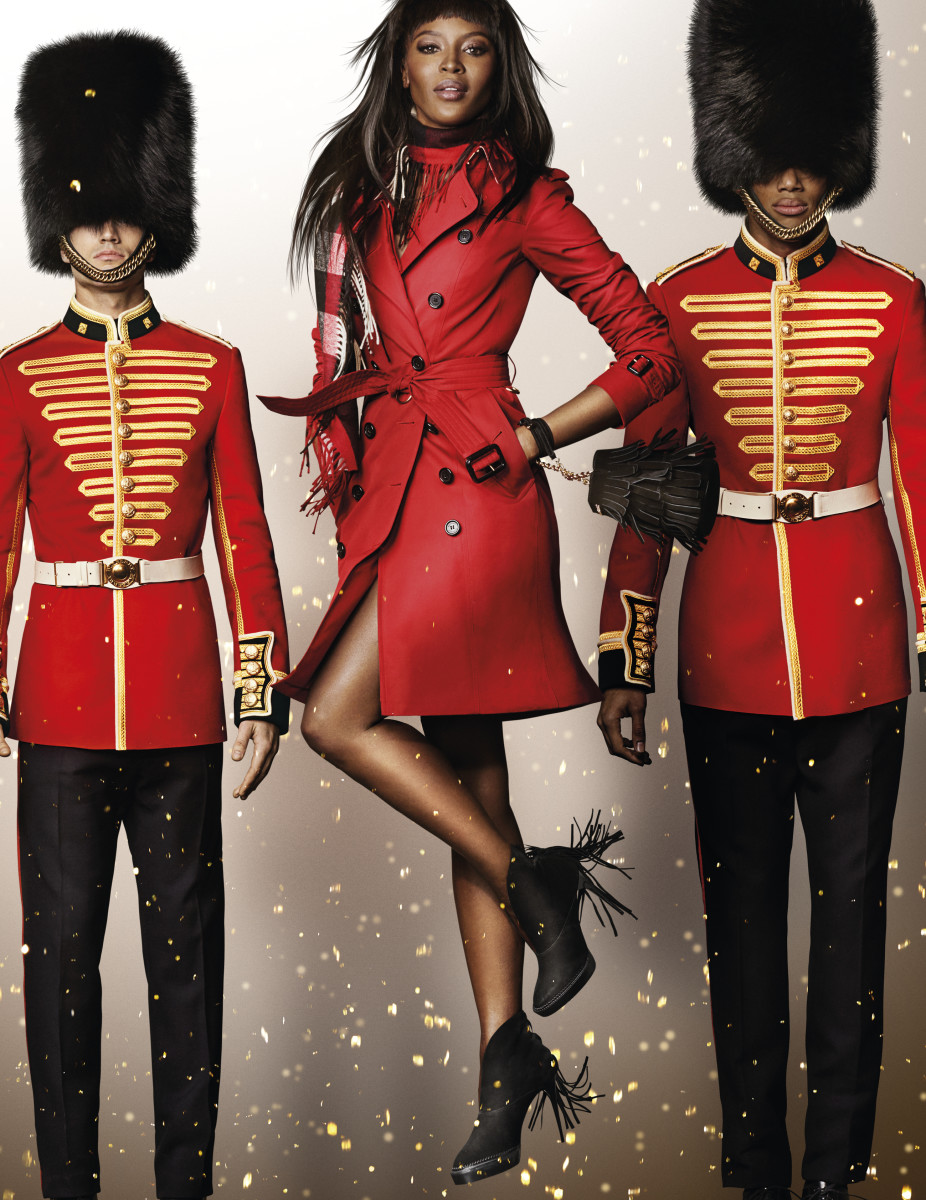 Naomi Campbell in the Burberry holiday campaign. Photo: Mario Testino/Burberry