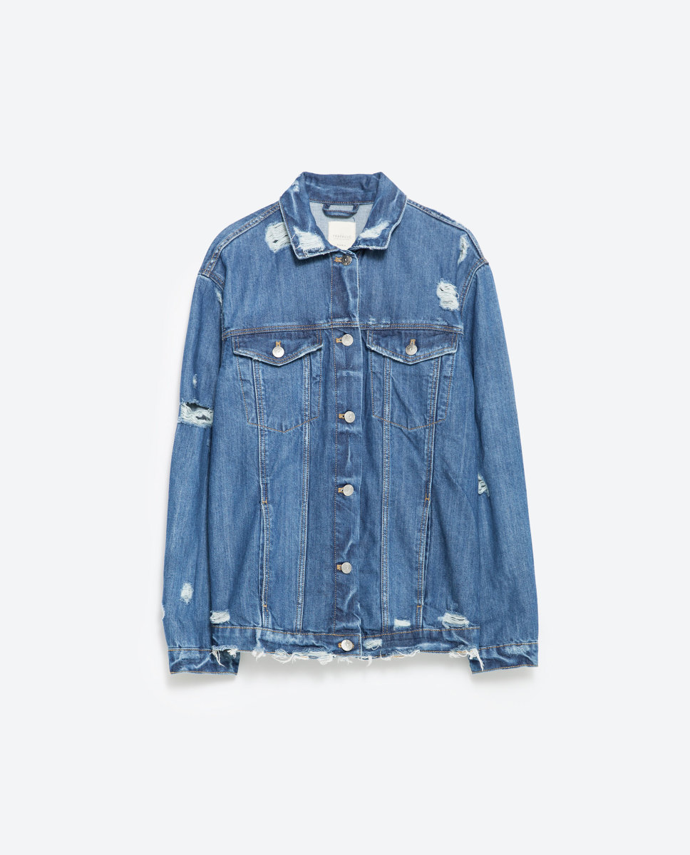 Zara oversize denim jacket, $69.90, available at Zara.
