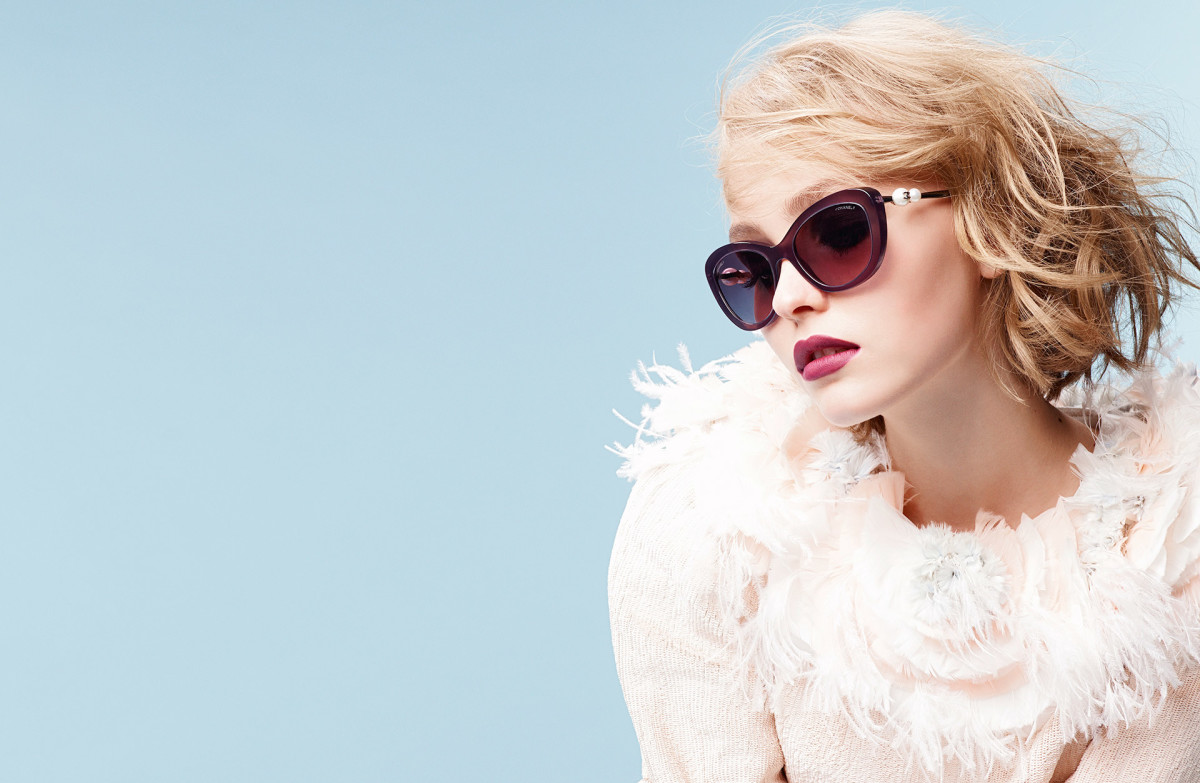Lily-Rose Depp for Chanel eyewear. Photo: Karl Lagerfeld/Chanel
