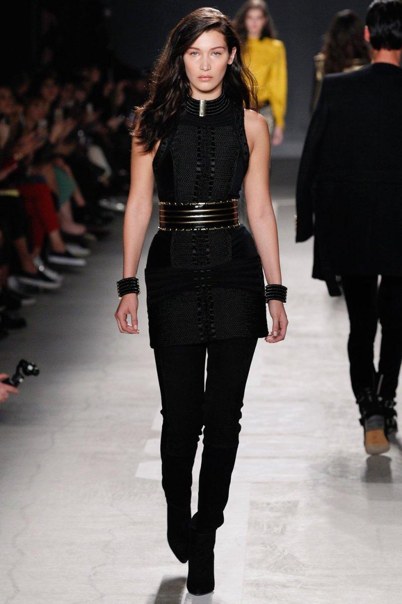 Bella Hadid in Balmain for H&M. Photo: H&M