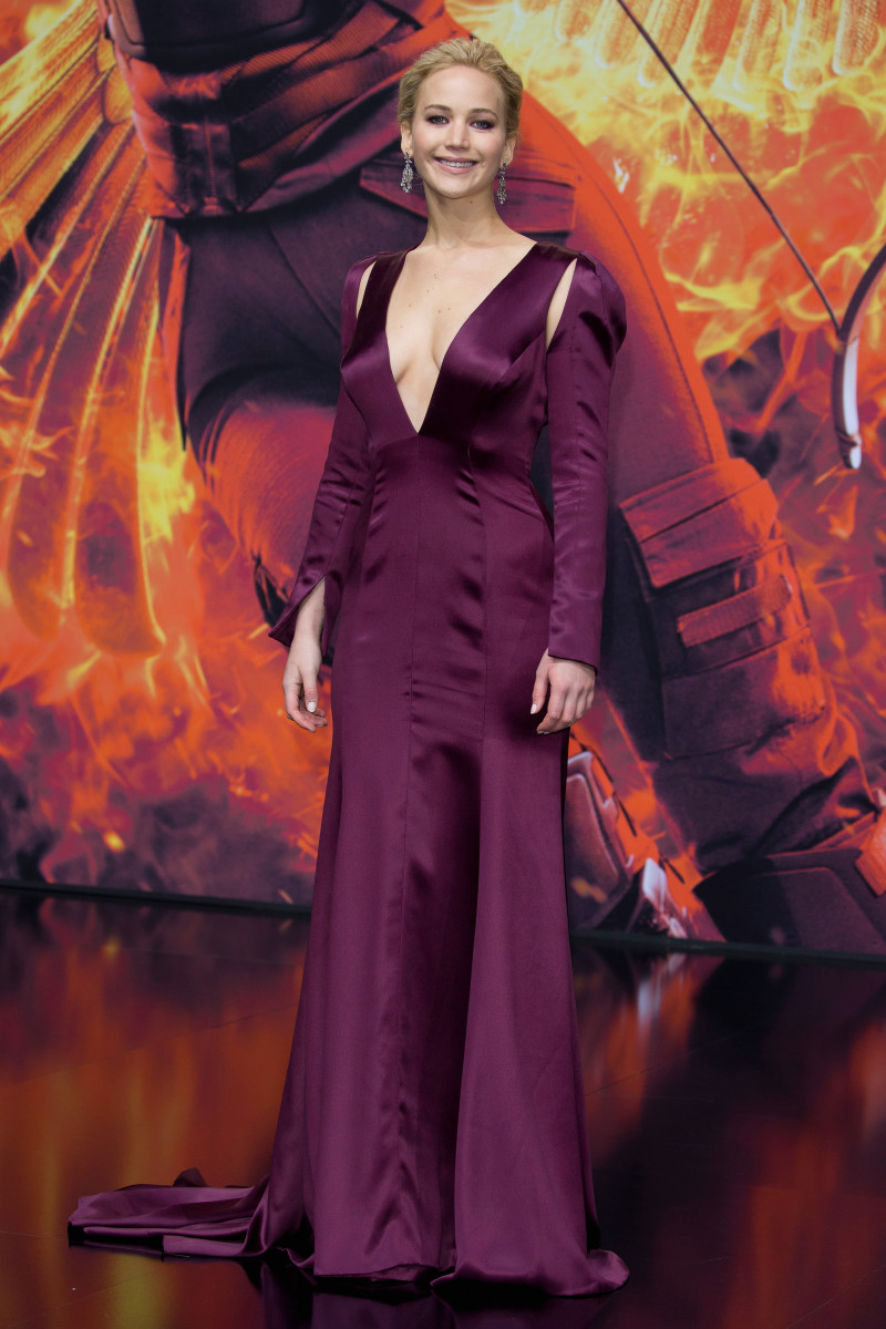 """Jennifer Lawrence in Christian Dior Couture at the world premiere of """"The Hunger Games: Mockingjay - Part 2"""" in Berlin on Wednesday. Photo: Andreas Rentz/Getty Images"""