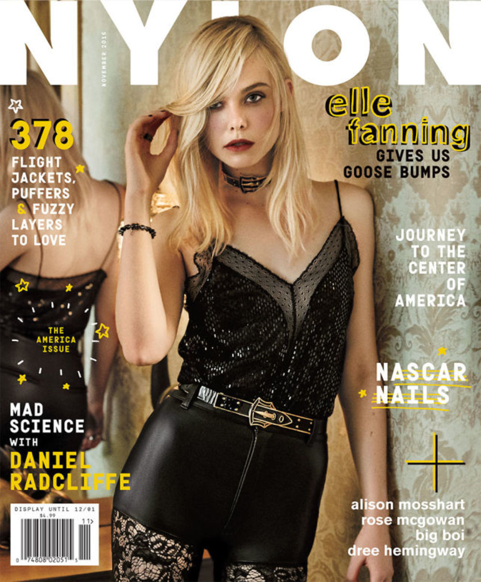 Elle Fanning covers the November issue of Nylon. Photo: Nylon