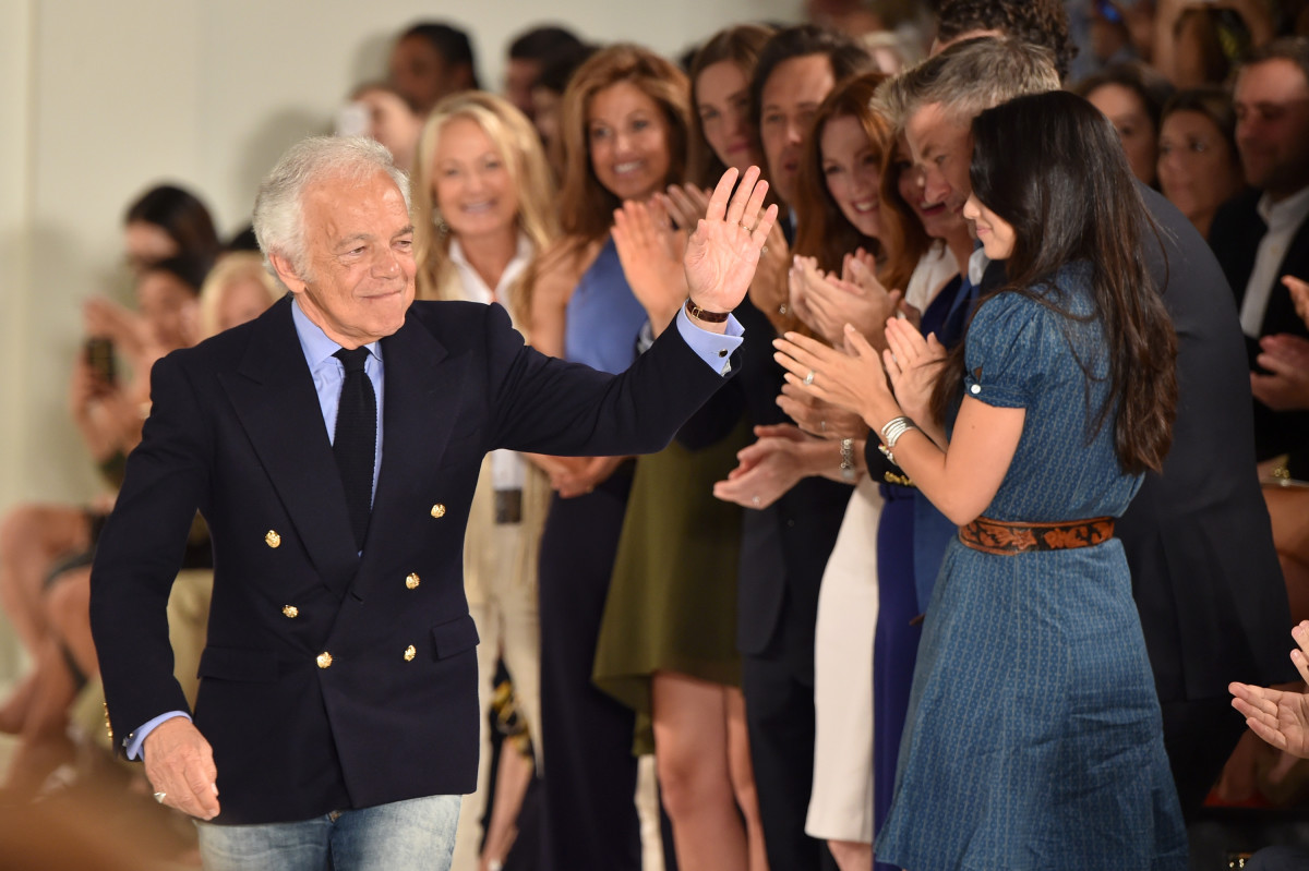 Ralph Lauren takes a bow. Photo: Mike Coppola/Getty Images