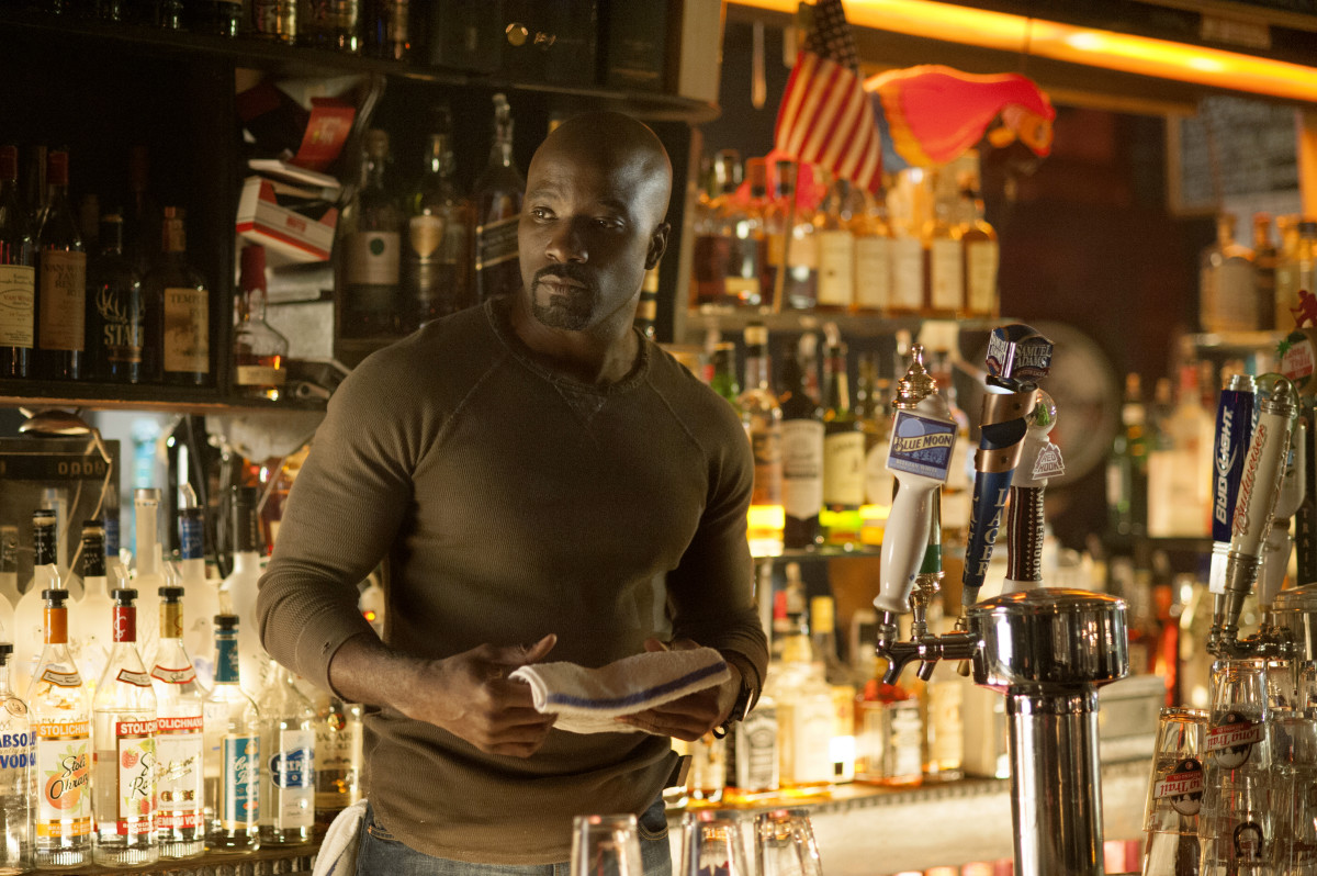 Mike Colter and his guns as Luke Cage. Photo: Myles Aronowitz/Netflix