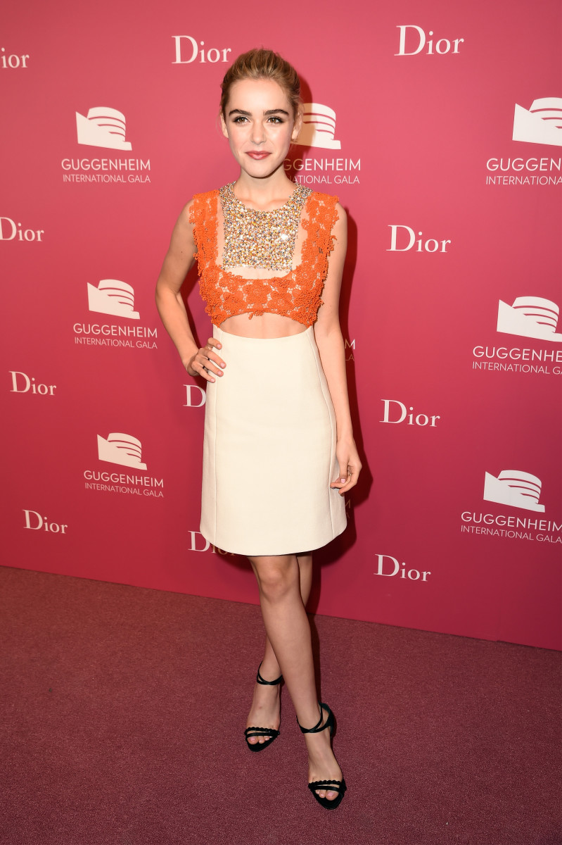 Kiernan Shipka in Dior. Photo: Nicholas Hunt/Getty Images for Christian Dior