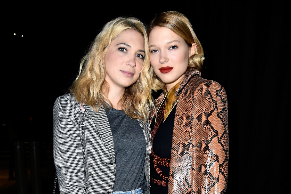 Camille and Léa Seydoux at Miu Miu's spring 2016 Paris Fashion Week show. Photo: Pascal Le Segretain/Getty Images