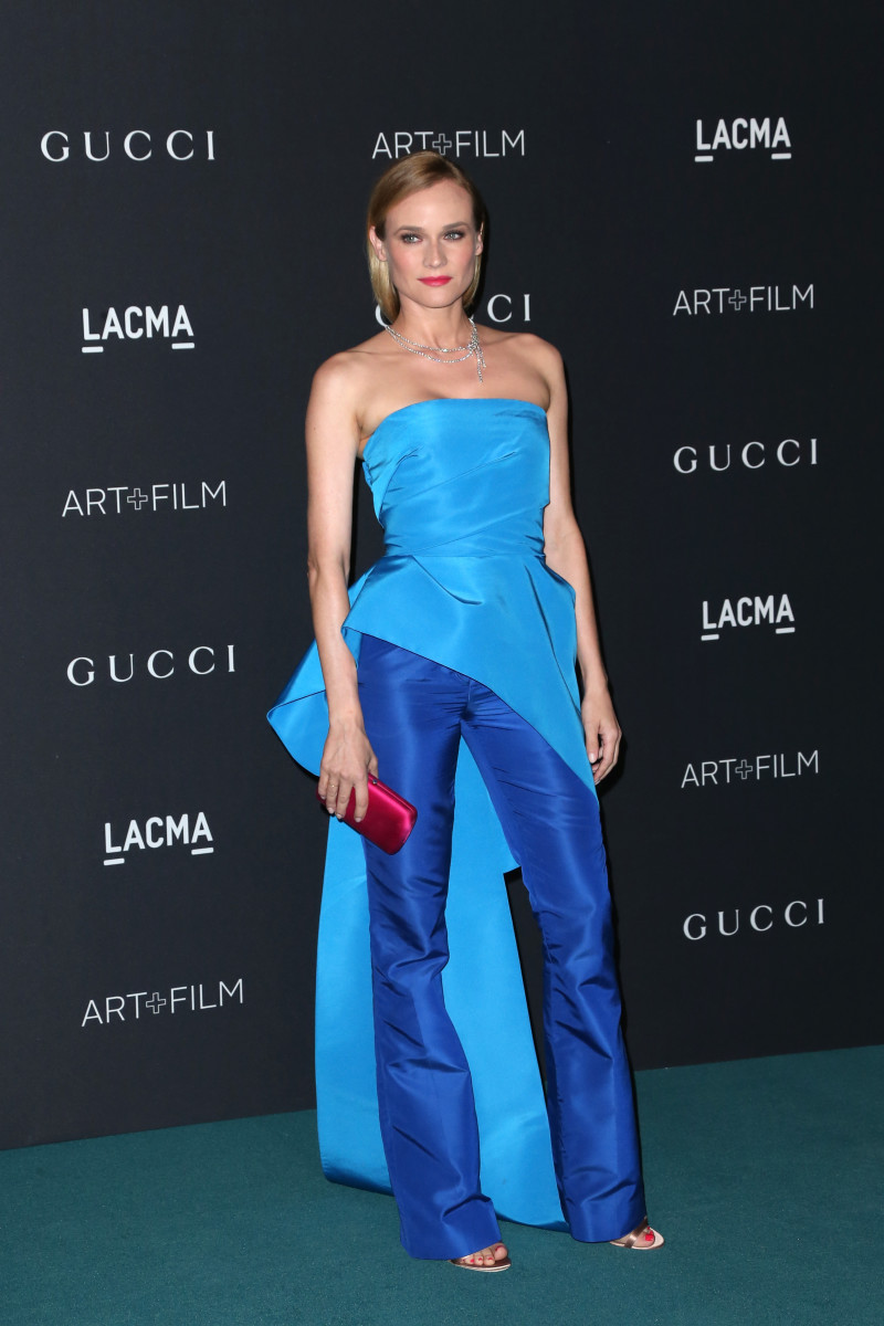 Diane Kruger in a Monique Lhuillier two-piece ensemble at the LACMA 2015 Art+Film Gala on Saturday. Photo: Frederick M. Brown/Getty Images