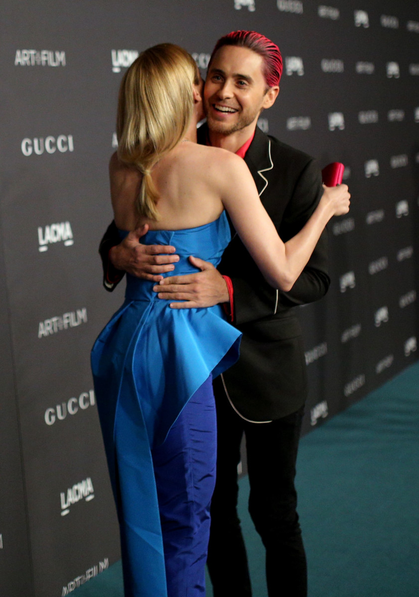 Diane Kruger and Jared Leto hug on the red carpet. Photo: Mike Windle/Getty Images