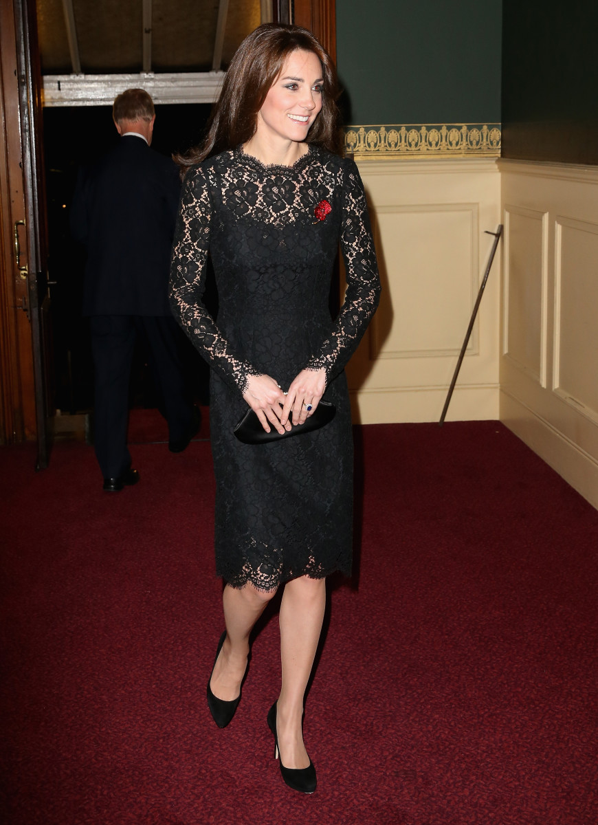 Kate Middleton at the Festival of Remembrance at the Royal Albert Hall. Photo: Chris Jackson/Getty Images