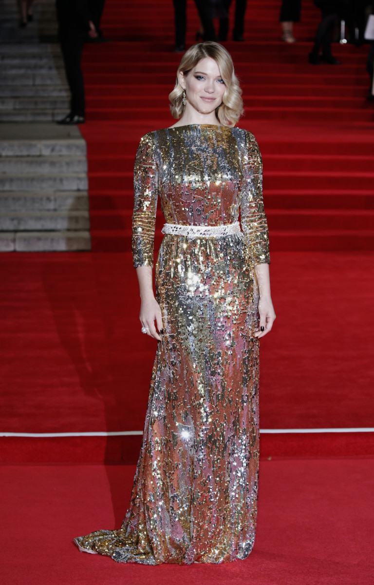 Léa Seydoux in Prada at the London premiere of 'Spectre.' Photo: John Phillips/Getty Images