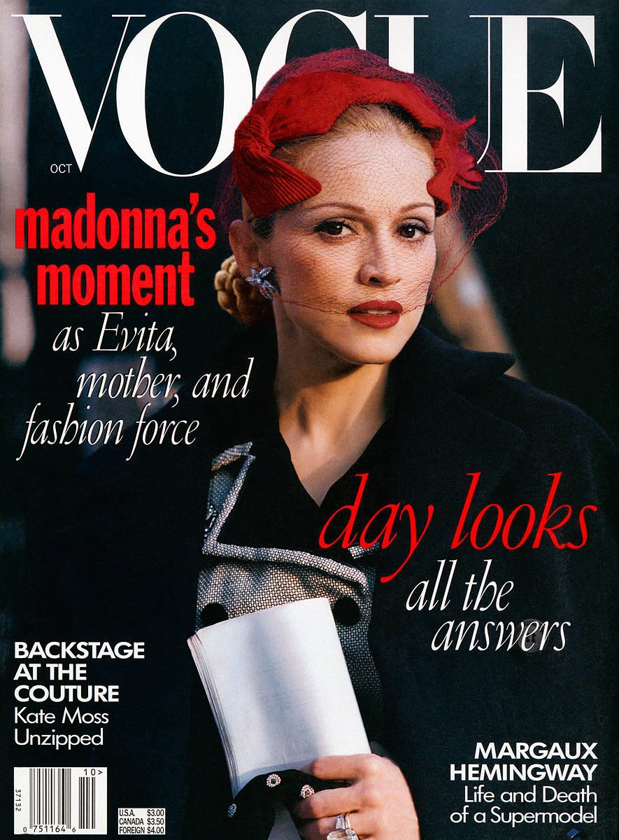 Madonna on the October 1996 cover of 'Vogue.' Photo: StevenMeisel/Vogue