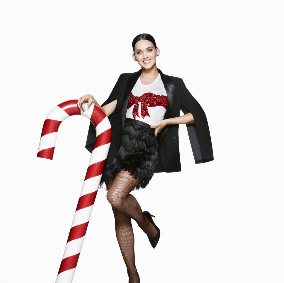 Katy Perry in the H&M holiday campaign. Photo: H&M
