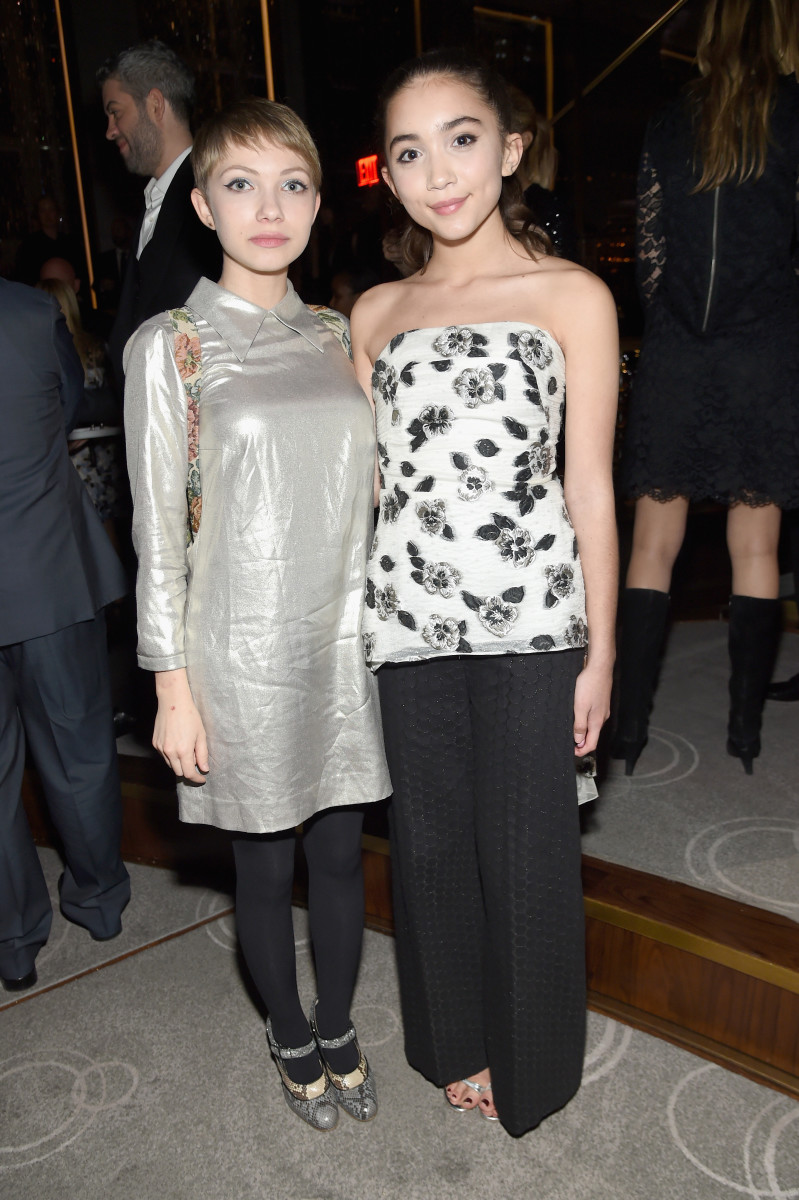 Tavi Gevinson and Rowan Blanchard. Photo: Jamie McCarthy/Getty Images