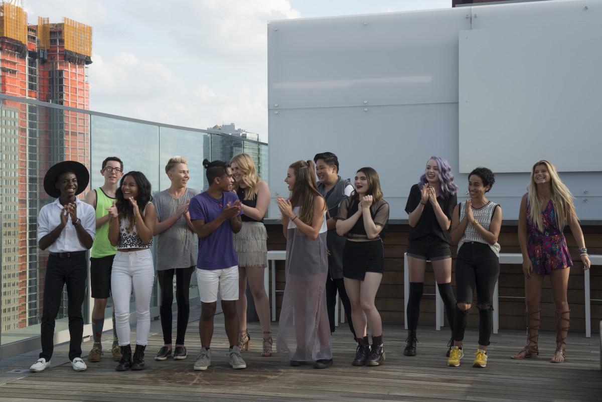"The contestants (from left: Zach, Jaxson, Ysabel, Matt, Jesse, Sami, Maya, Zachary, Victoria, Bridget, Samantha and Peytie) of the debut season of ""Project Runway Junior"" on Lifetime. Photo: Barbara Nitke"