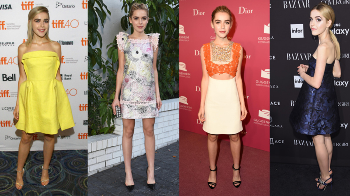 From left to right: 2015 Toronto International Film Festival, CFDA/Vogue Fashion Fund show, 2015 Guggenheim International pre-party, Harper's Bazaar Icons party. Photo: Getty Images
