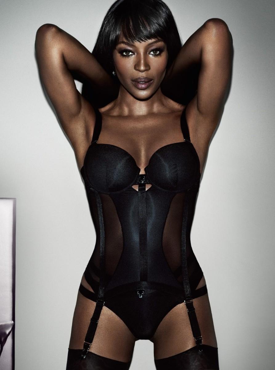 Naomi Campbell models her Yamamay collection. Photo: Mario Testino/Yamamay