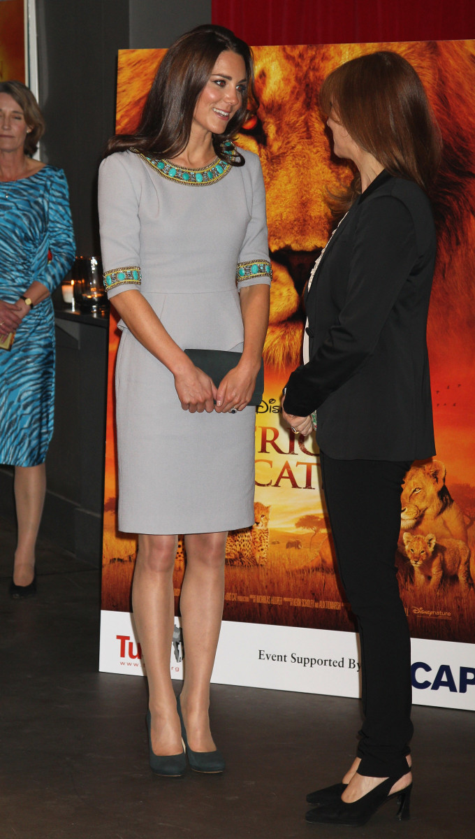 "Kate Middleton at the premiere of ""African Cats"" in 2012. Photo: Chris Jackson/Getty Images"
