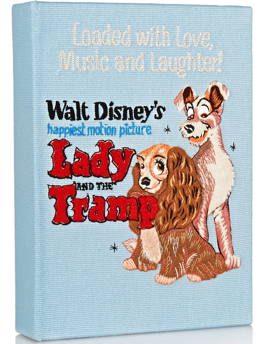 Olympia Le-Tan 'Lady and the Tramp' embroidered cotton-canvas clutch, $1,880, available at Net-a-Porter.