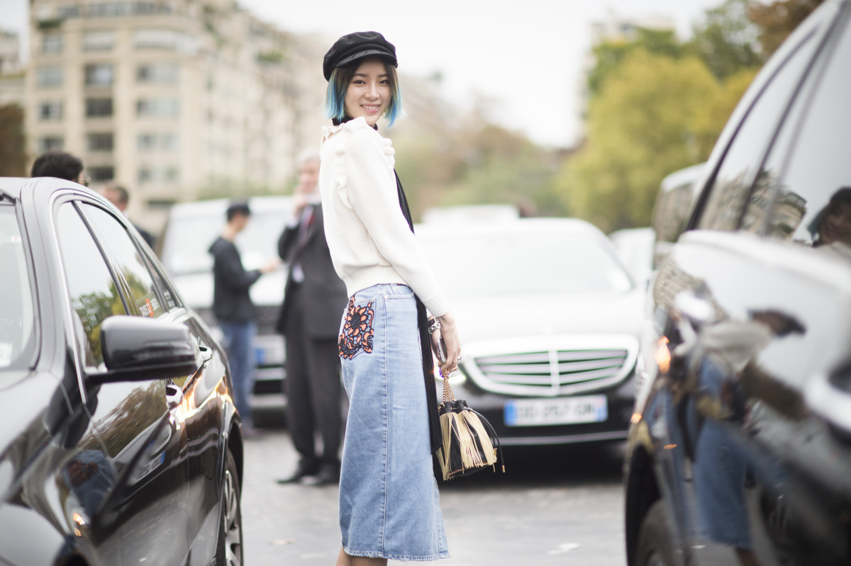 Irene Kim at Paris Fashion Week. Photo: Timur Emek/Getty Images