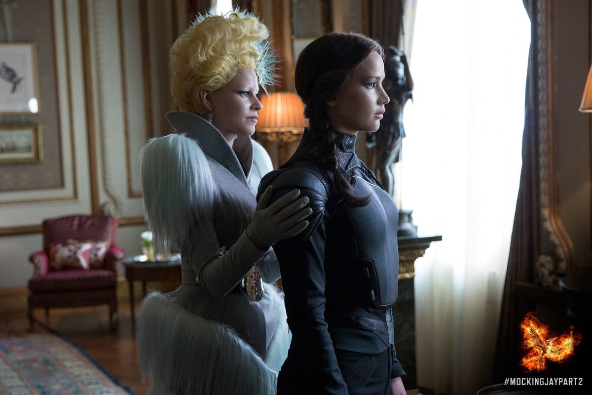 """Your shoulders aren't as flouncy as mine."" Photo: Hunger Games/Facebook"