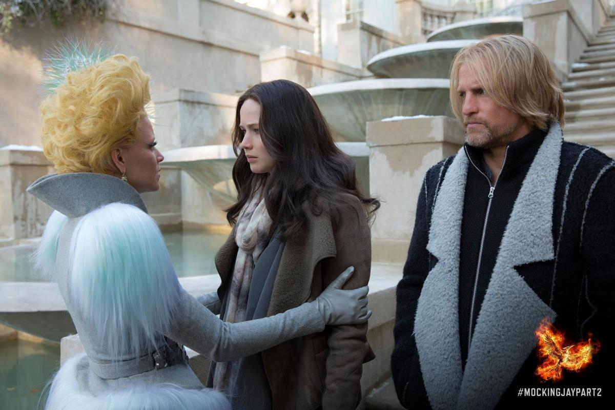 Effie + Haymitch forever. Photo: Hunger Games/Facebook