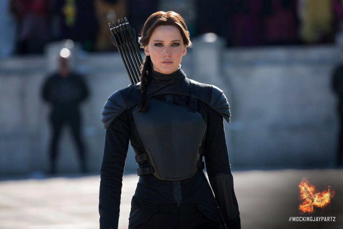 The Mockingjay about to do what she does best — undermine authority. Photo: Hunger Games/Facebook