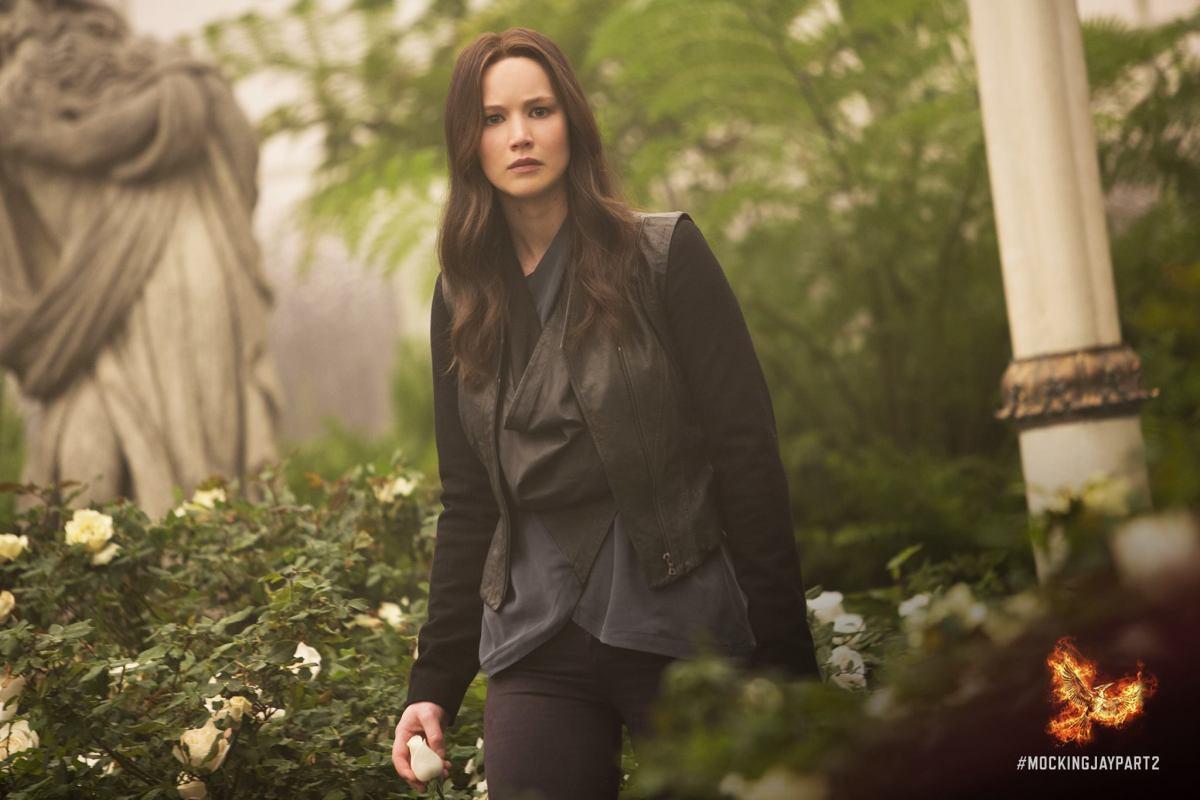 Katniss's wig deserves some kind of award for Kate Middleton levels of bounciness. Photo: Hunger Games/Facebook