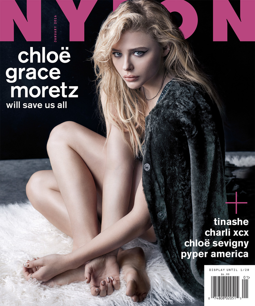 Chloë Grace Moretz on Nylon's December 2015/January 2016 cover. Photo: Nylon