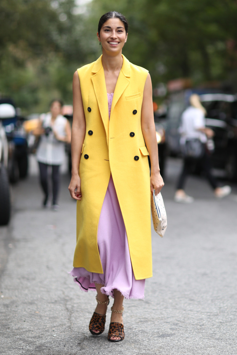 Caroline Issa at New York Fashion Week in September. Photo: Imaxtree